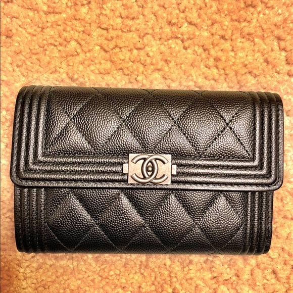 5732f452be1b61 CHANEL Handbags - CHANEL Boy Caviar Flap Wallet
